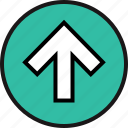 arrow, high, point, up icon