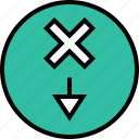 abstract, delete, design, x icon