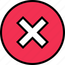 x, stop, delete