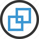 abstract, design, double, duplicate, shape icon
