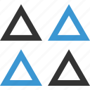 abstract, design, four, shape, triangles icon