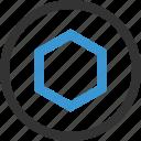 abstract, center, design, hexagon, shape icon