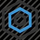 abstract, design, eye, hexagon, shape icon