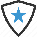abstract, design, shape, shield, star icon