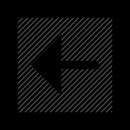 arrow, back, boxed icon