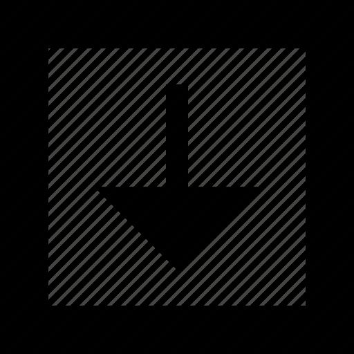 arrow, download, menu icon