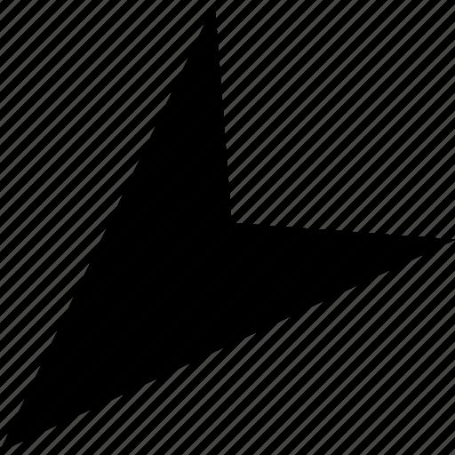 arrow, down, gps, pointer icon