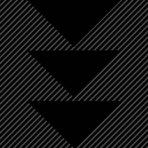down, point, pointer icon