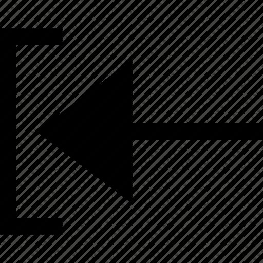 arrow, exit, pointer icon