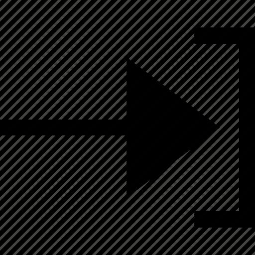 arrow, go, next, pointer icon