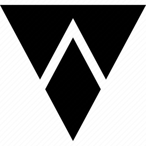 down, irection, navigation, triangle icon