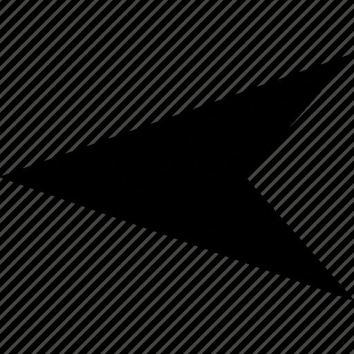 arrow, left, point, rewind icon