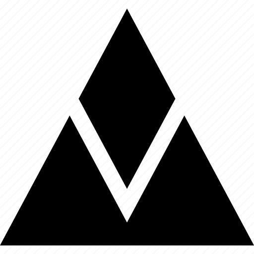 navigation, triangle, up icon