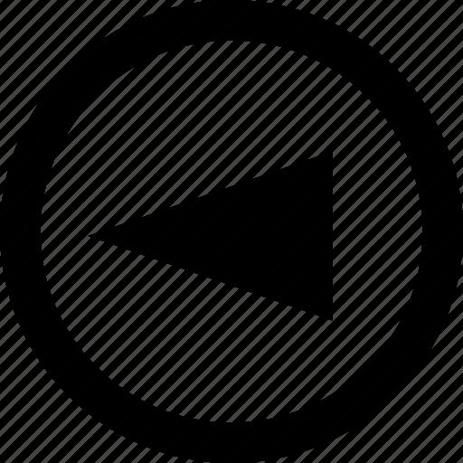 arrow, back, design, point icon