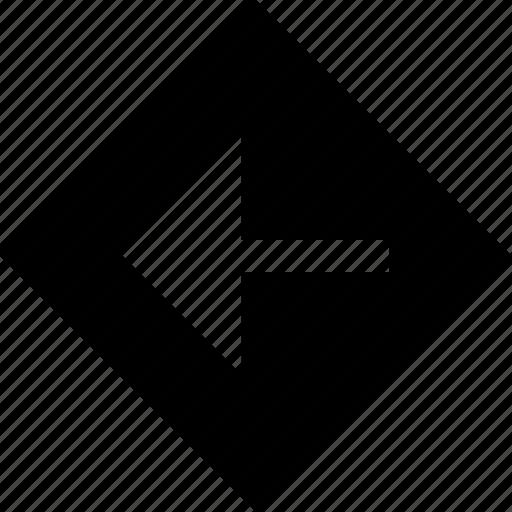 arrow, cube, left, point icon