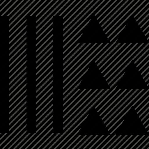 creative, design, triangles icon