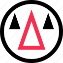 abstract, arrow, cones, creative, design, up icon