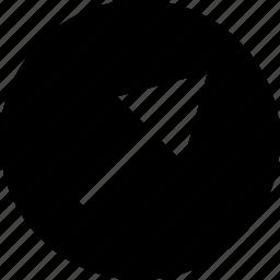 abstract, arrow, create, creation, point, shape icon