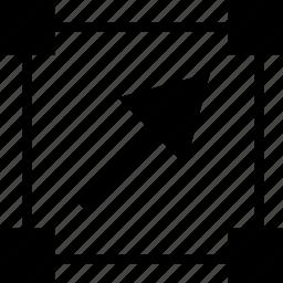 abstract, arrow, create, creation, edit, shape icon