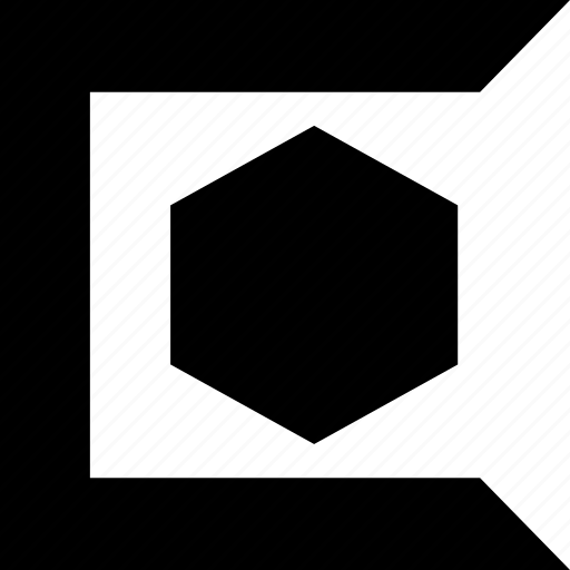 abstract, c, create, creation, hexagon, shape icon