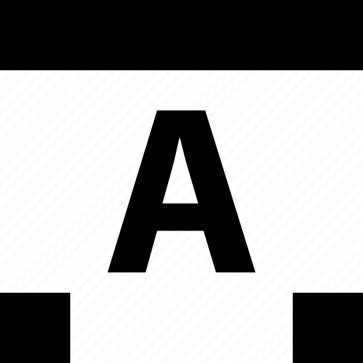 a, abstract, creative, edit, lettering icon