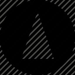 abstract, arrow, cone, creative, pointer, up icon