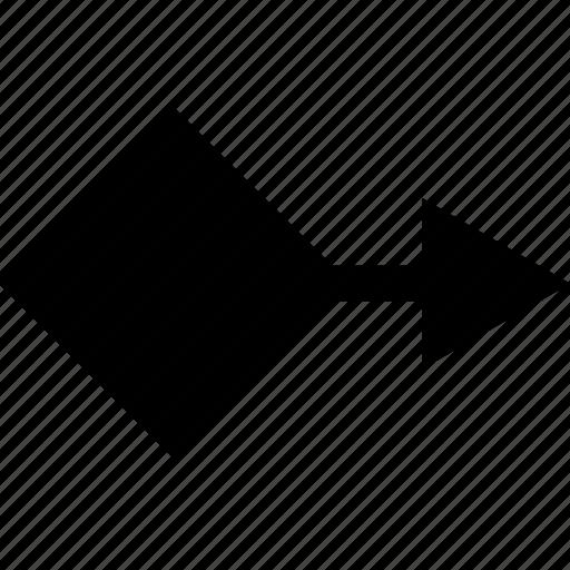arrow, cube, point, pointer icon