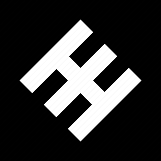 abstract, creative, h, lines icon