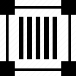 barcode, code, edit, lines icon