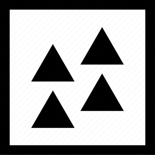abstract, assorted, creative, four, triangles icon