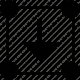 abstract, arrow, boxed, creative, edit, editing, shape icon