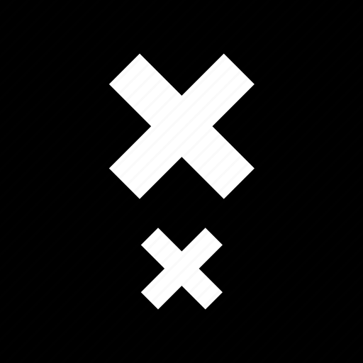 abstract, boxed, creative, delete, in, x icon