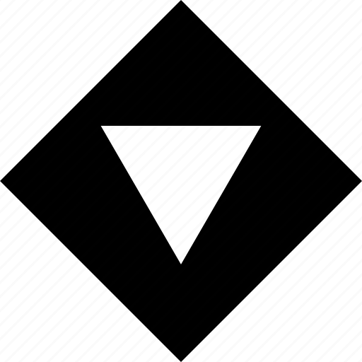 abstract, arrow, creative, cube, down, point icon