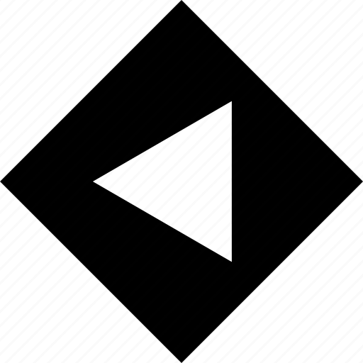 abstract, arrow, creative, cube, left, point icon