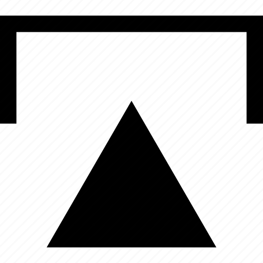 pointer, triangle, up, upload, upward icon