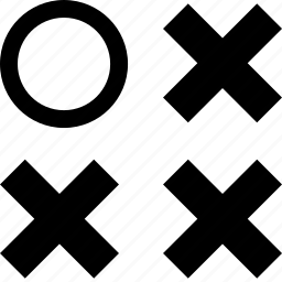 abstract, creative, dot, single, three, x icon