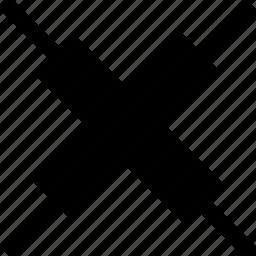 abstract, creative, delete, error, factor, x icon