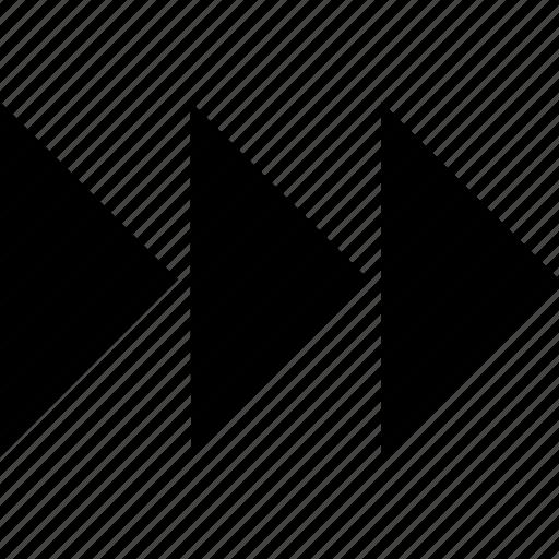 abstract, arrows, creative, fast, forward, go, next icon