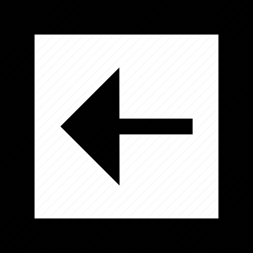 arrow, back, boxed, left, pointer icon