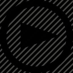 arrow, forward, go, menu, next, point, pointer icon