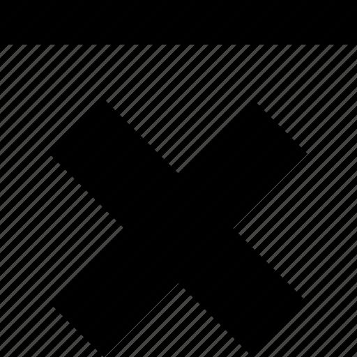 abstract, bottom, creative, delete, line, top, x icon