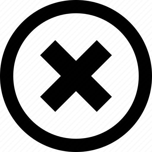 cross, delete, menu, option, x icon