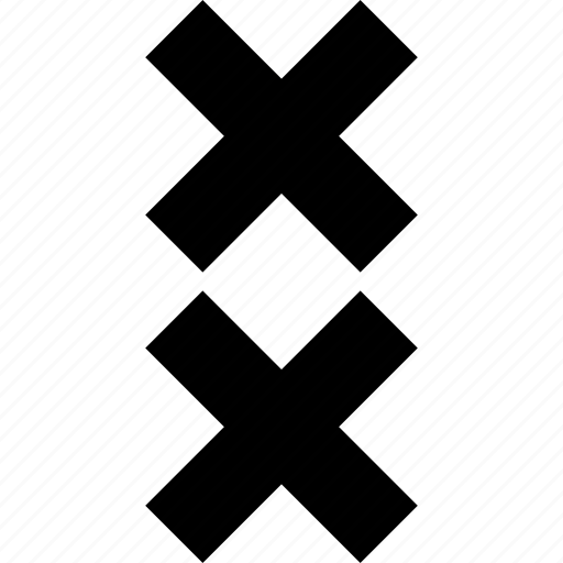 abstract, creative, cross, delete, two, x icon