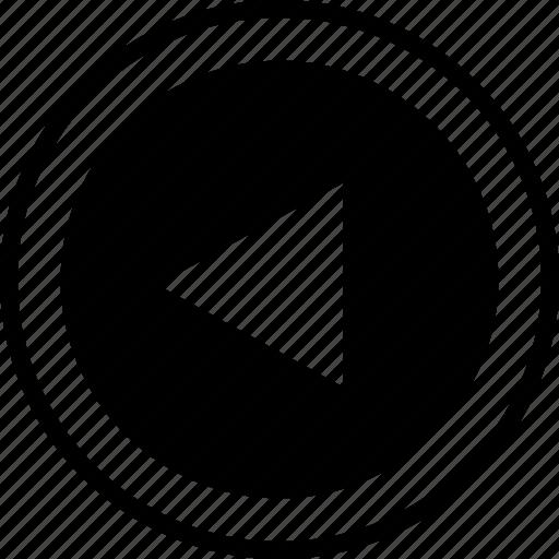 arrow, back, left, menu, point, pointer icon