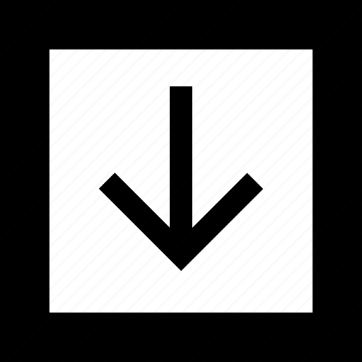 arrow, down, download, inside, point, pointer icon