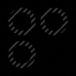 abstract, creative, design, spots, three icon