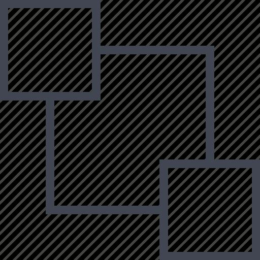 connect, corner, data, server icon
