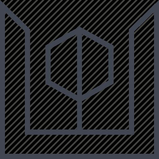 edge, hexagon, shape icon