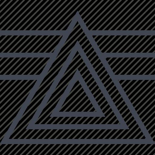 illuminati, lines, sunset icon