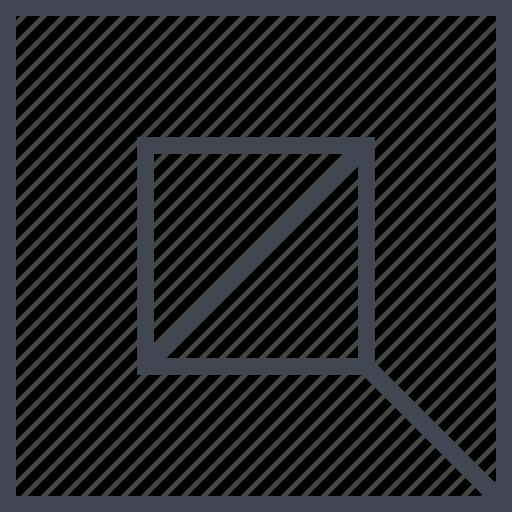 center, square, target icon